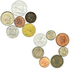 """13 PRE-EURO COINS. """"INNER SIX"""" AND """"OUTER SEVEN"""" OLD EUROPEAN UNION COINS"""