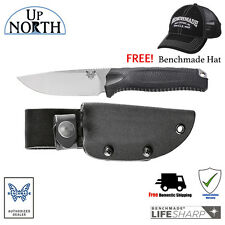 NEW Benchmade HUNT 15008-BLK STEEP COUNTRY Fixed Blade Hunting Knife FREE HAT