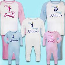 Personalised Embroidered 100% Cotton Pyjamas, 1st Birthday gift / keepsake PJ's