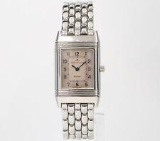 Jaeger LeCoultre Reverso 260.8.08 20mm Pink Ladies Swiss Quartz Vintage Watch