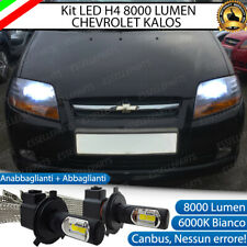 KIT FULL LED CHEVROLET KALOS LAMPADE LED H4 6000K BIANCO GHIACCIO NO ERROR