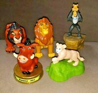 Lion King Figures Mufasa, Nala Cub, Pumba, Scar and Rafiki Lot of 5