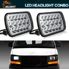 7x6'' LED Headlights 180W Sealed Hi/Low Beam DRL For GMC Savana 1500 2500 3500