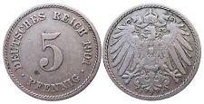 J 12   5 Pfennig KAISERREICH 1901 F in SS+  502903