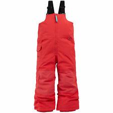 Burton Maven Bib Pantalons de Neige pour Enfants Salopette Pantalon de Ski Rouge