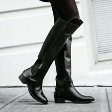 ANTHROPOLOGIE ABROAD BOOTS BY SEYCHELLES SHOES BLACK LEATHER 7 OTK