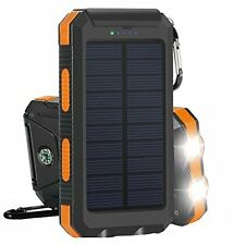 20000mAh Portable Solar Panel Dual USB External Battery Power Bank Pack Charger