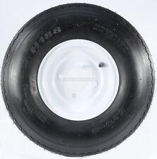 "Two Trailer Tires & Rims 5.70-8 570-8 5.70 X 8 8"" B 4 Lug Hole Bolt Wheel White"
