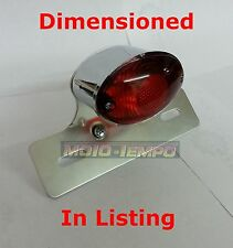 Stop & Tail Chrome Cat Eye Light Complete Custom Chop Streetfighter Motorcycle