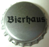 BIERHAUS unused silver and black Beer CROWN, Bottle Cap
