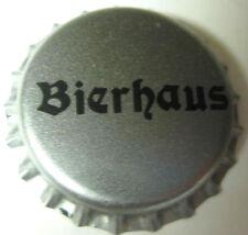 BIERHAUS unused silver and black Beer CROWN, Bottle Cap