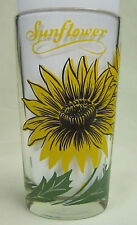 Sunflower Peanut Butter Glass Glasses Drinking Kitchen Mauzy 30-2
