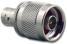 Pack 5, Adapter Converter BNC Socket  To N Type Plug Ham Radio