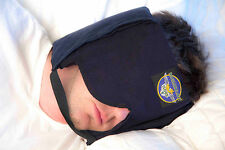 Sleep Mask Pillow - DREAMCATCHER - Sound Block, Secret Pockets, Chinstrap (Pat).