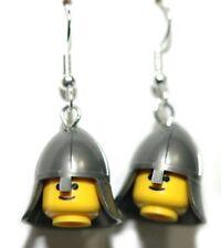 MINI LEGO KNIGHT HEAD DANGLE EARRINGS (L025)