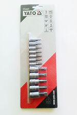 Yato Torx Brocas Seguridad Set de vasos 12pcs yt-0431 SEGURO Star T8-T55