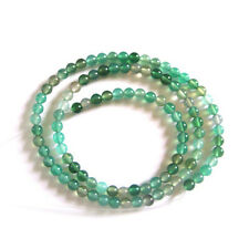 Green Agate Loose Beads 4mm Round Bead (16 inches)  - DIY Necklace - Top Quality