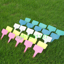 100pcs Plastic Plant Tags Markers Blank Pot Labels T-type 100mm x60mm