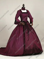 Renaissance Victorian Princess Dress Prom Gown Train Period Theater Clothing 159