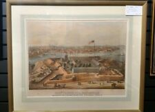 Fort Federal Hill Baltimore Maryland antique color lithograph 1862 E. Sachse