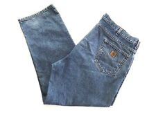 "Carhartt Men's Size 46 x 31""   Work Casual Denim Jeans Straight Leg Distressed"