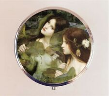 John William Waterhouse Pill Box Pillbox Case Nymphs Mermaid Stash Box