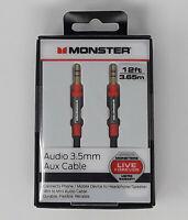 Monster 12 ft 3.65m Audio 3.5mm Aux Cable (NIB)