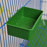Plastic Parrot Bird Pet Bathtub Bath Clean Box Feeding Food Water Box Toys Acces