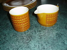 Retro 1970s Hornsea 2 items in  Saffron pattern 1 jug and matching pot