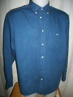 Chemise  manches Longues coton bleu LACOSTE DEVANLAY M 40