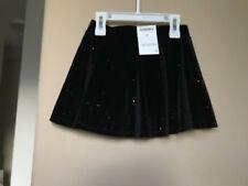 NWT Black Velvet Skort (Skirt,Scooter) with Sparkles  Size 4