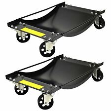 Par de plataformas rodantes de rueda de coche Skate van posicionando Trolley 45