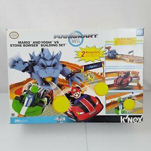 K'NEX Super Mario Mario Kart Wii Mario and Yoshi vs Stone Bowser Set #38436