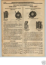 1922 PAPER AD Harding Brand Patrol Alert Night Watchmen's Clock Stations Leather