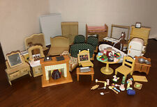 Huge Lot Of Calico Critters Furniture & Accessories