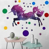 Unicorn Stars Wall Sticker Circles Dots Wall Decal Kids Baby Room Nursery Decor
