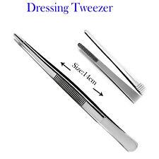 Thumb Dressing Forcep Dental Surgery Gauze Holding Surgical Tweezer Serrated Tip