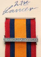 QSA QUEENS SOUTH AFRICA MEDAL RIBBON BAR CLASP DEFENCE OF KIMBERLEY BOER WAR