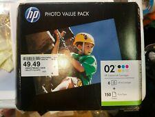HP 02 Custom Ink Cartridges 6-Pack + 150 Sheets Exp FEB/2018 Q7964AN BRAND NEW