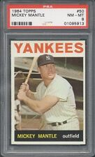 1964 Topps #50 Mickey Mantle PSA 8