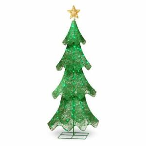 5' Giant Green Christmas Tree LED Lights Holiday Outdoor Yard Porch Decoration