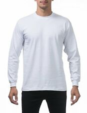 PROCLUB MEN HEAVYWEIGHT SHIRT LONG SLEEVE PRO CLUB TEE ANY COLOR T-SHIRT S-5XLT