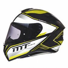 MT Targo Interact Motorcycle Helmet Matt Yellow Motorbike Crash Lid Cheap Budget
