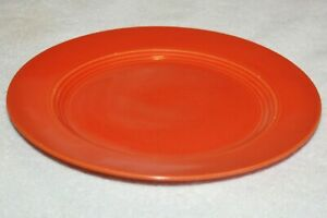 "Vintage Fiesta Radioactive Red Orange 9.5"" Luncheon Dinner Plate 1930's original"