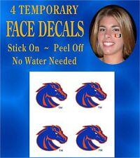 Boise State Broncos Temporary Face Tattoos BOGO