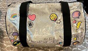 Justice Girls Emoji Flip Sequin Duffel Bag Tote Bag