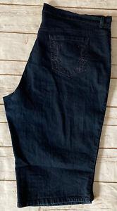 GLORIA VANDERBILT Amanda Women's Skimmer Dark Wash Blue Jean Capri Pants Size 22