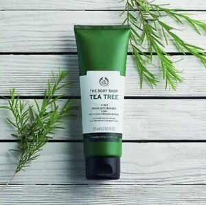 BN The Body Shop Tea Tree 3-in-1 Wash Scrub Mask 125 ml  RRP £8.50
