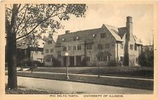 c1940 Postcard  Phi Delta Theta House University of Illinois IL Champaign County