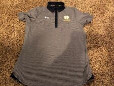 Notre Dame Fighting Irish Lacrosse Under Armour Mens Small Polo Shirt ACC